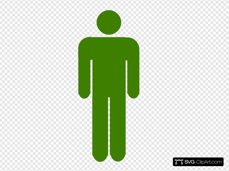 Army Green Stick Figure Clip art, Icon and SVG.