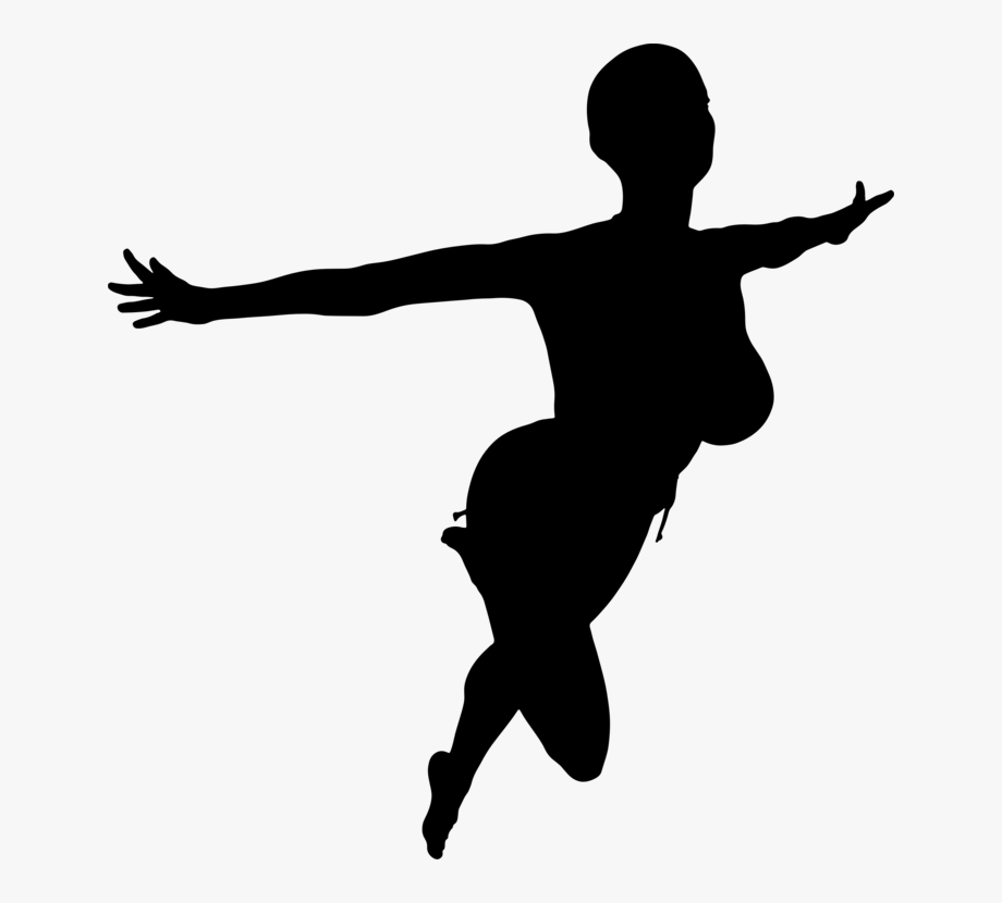 Flying Girl Silhouette Png #2156013.