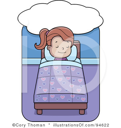 Kid Going To Bed Clipart.