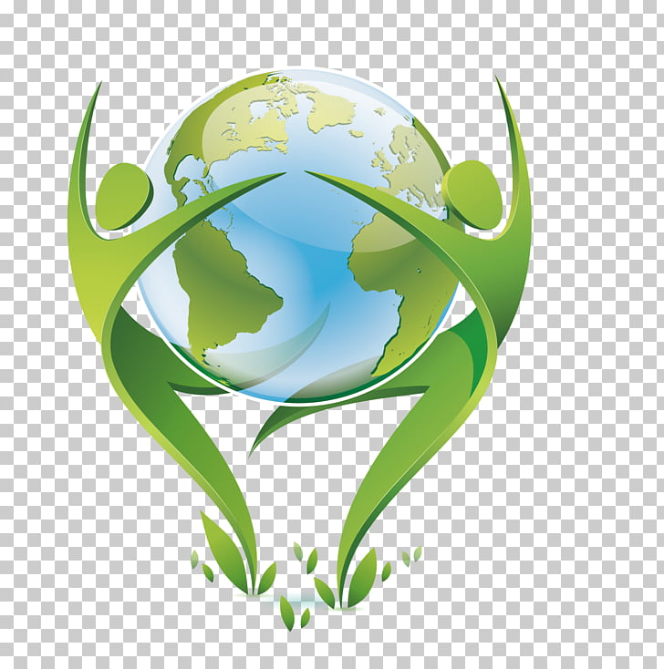 Logo Graphic Designer, Green Earth, earth surround by two.