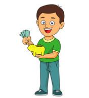 Person holding money clipart.