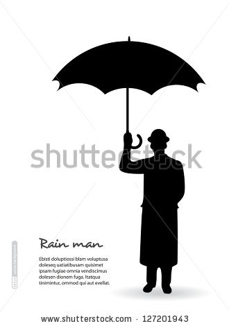 Umbrella Silhouette Stock Images, Royalty.