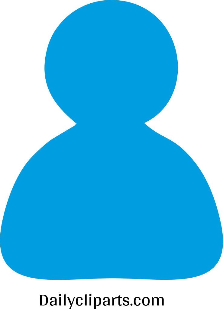 Single Person Icon Image.