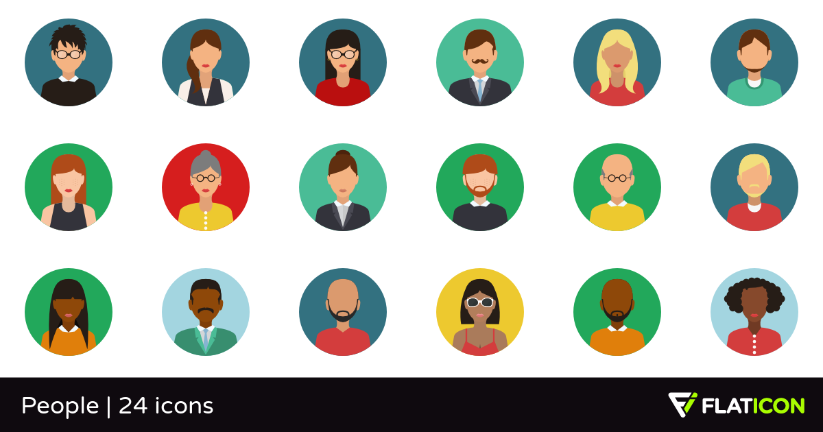 People 24 free icons (SVG, EPS, PSD, PNG files).