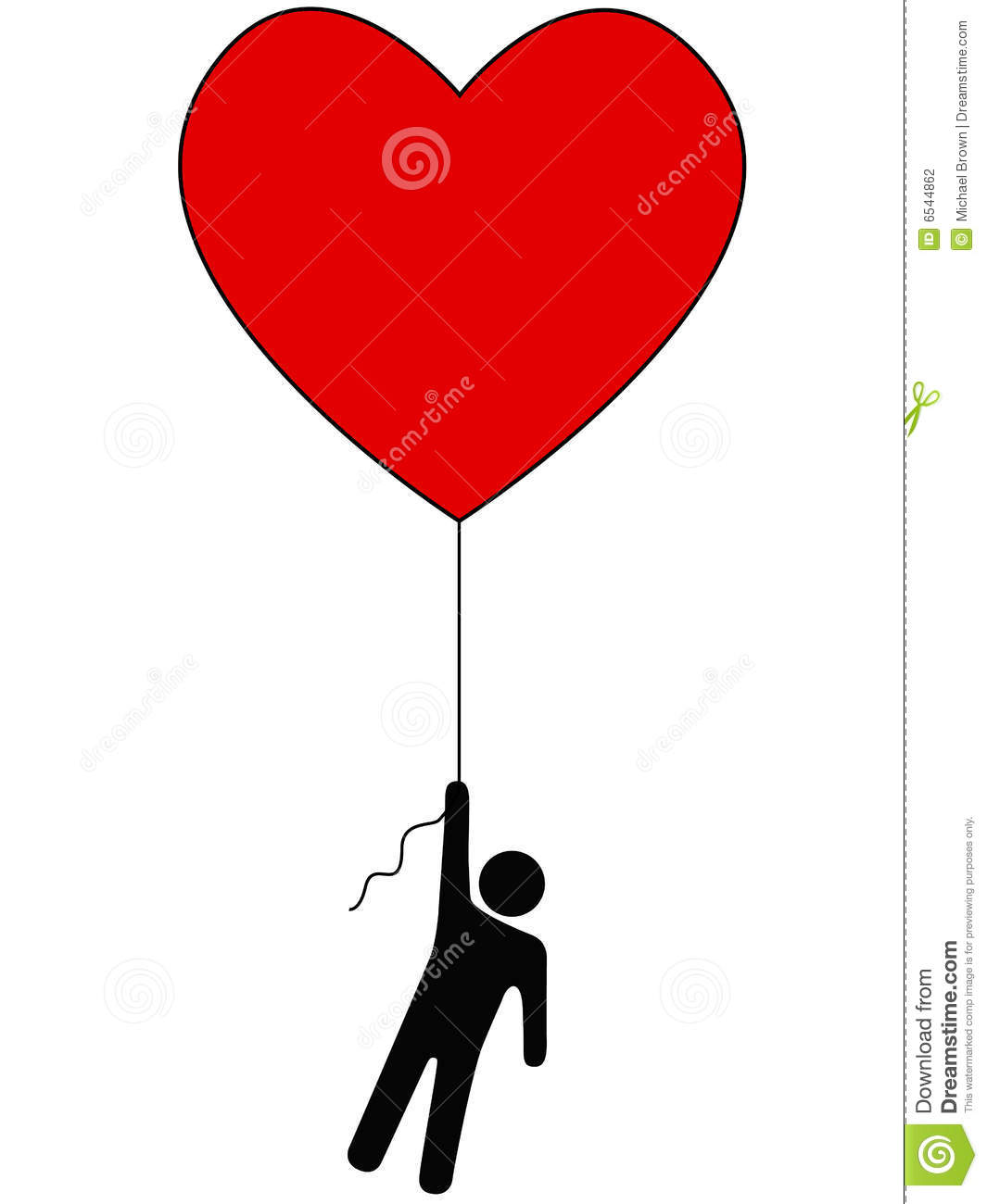 Love Lift Us Up Heart Balloon Person Symbol Stock Photography.