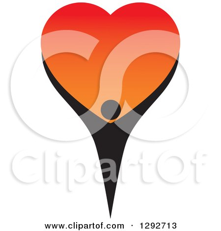 Clipart of a Black Person Forming the Bottom Half of a Big.