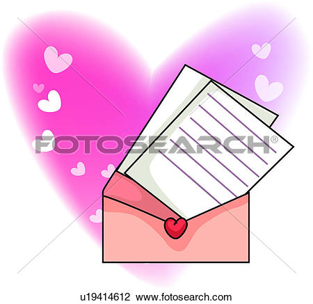 Clipart of valentine`s day, mail, valentine, seasons, letter, love.
