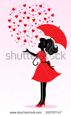 Cat Sailing Umbrella Singing Rain Stock Vector 96692782.