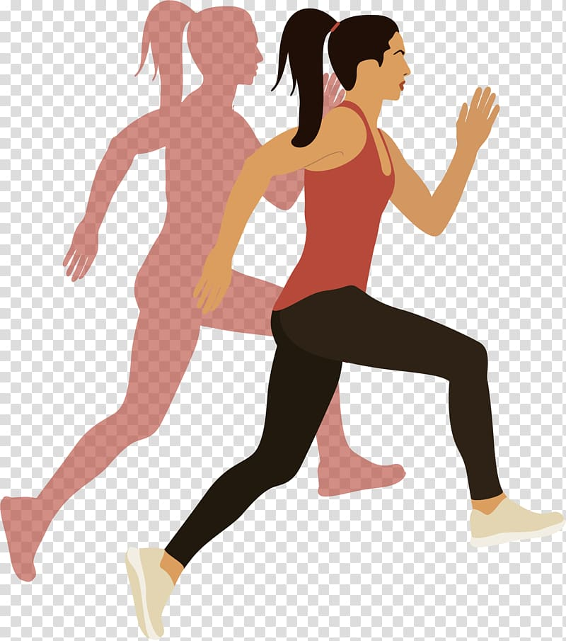 Physical exercise Woman Euclidean , Cartoon woman jogging.
