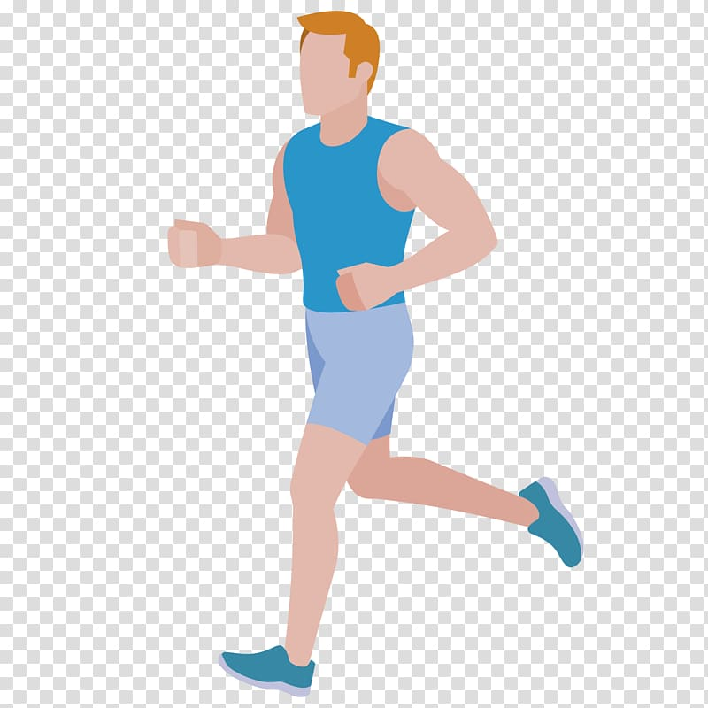 Running Cartoon Flat design, Running man transparent.