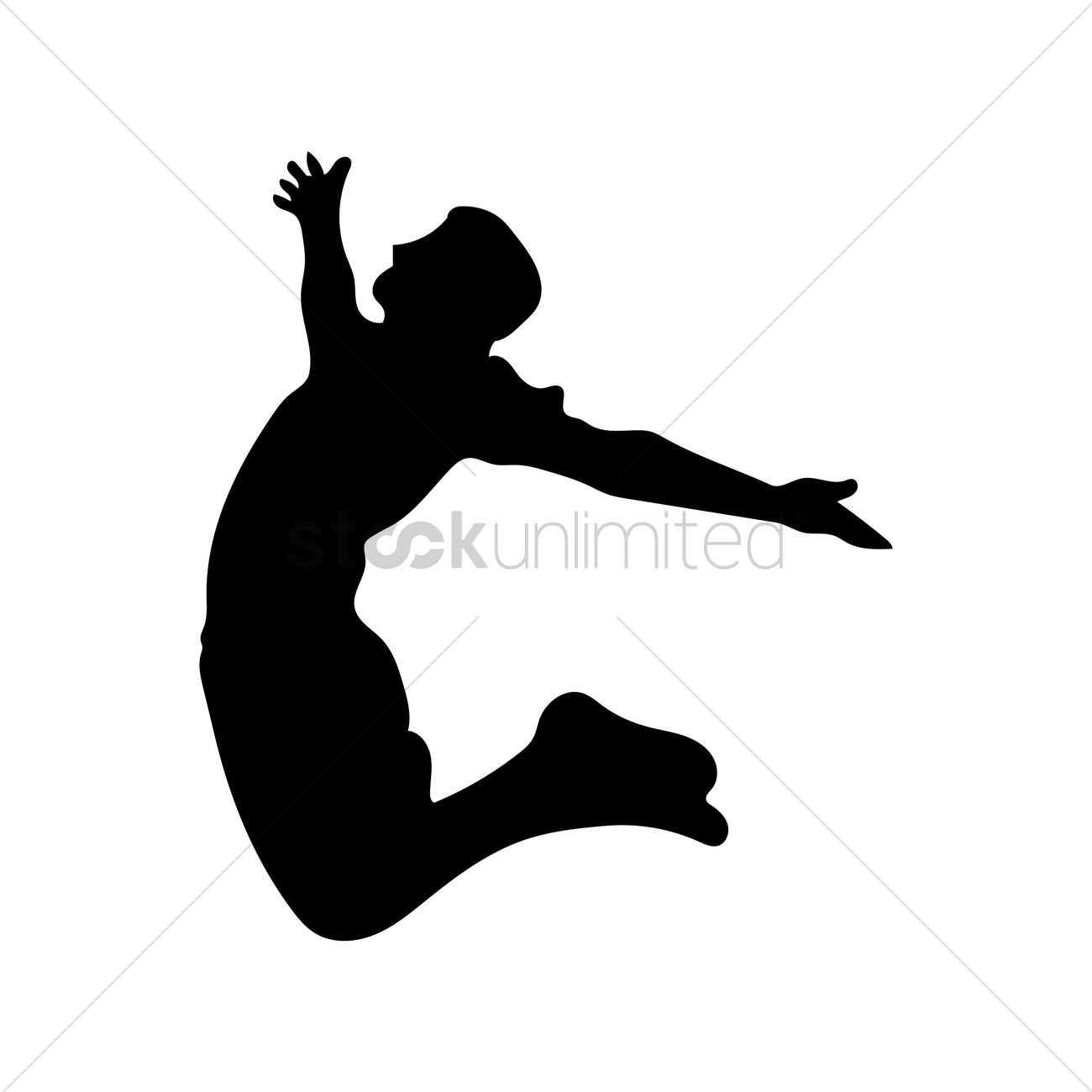 Silhouette Jumping Person.
