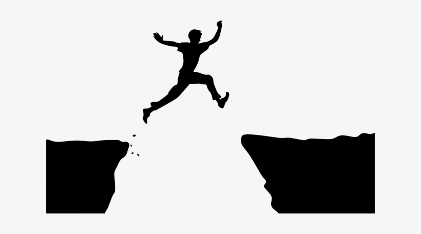 Person Jumping Clipart PNG Image.