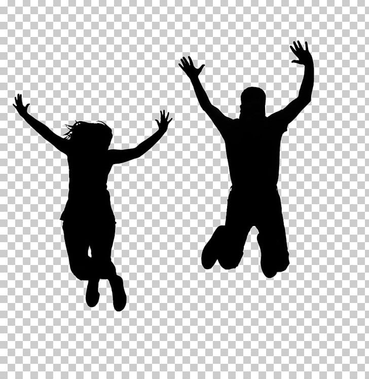 Silhouette Person Jumping PNG, Clipart, Animals, Arm, Black.