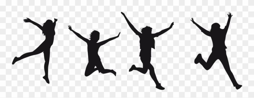 Joy Jumping Silhouette.