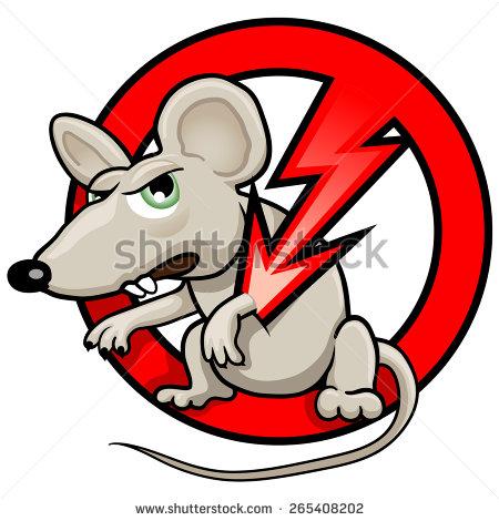 Person Killing A Rat Clipart.