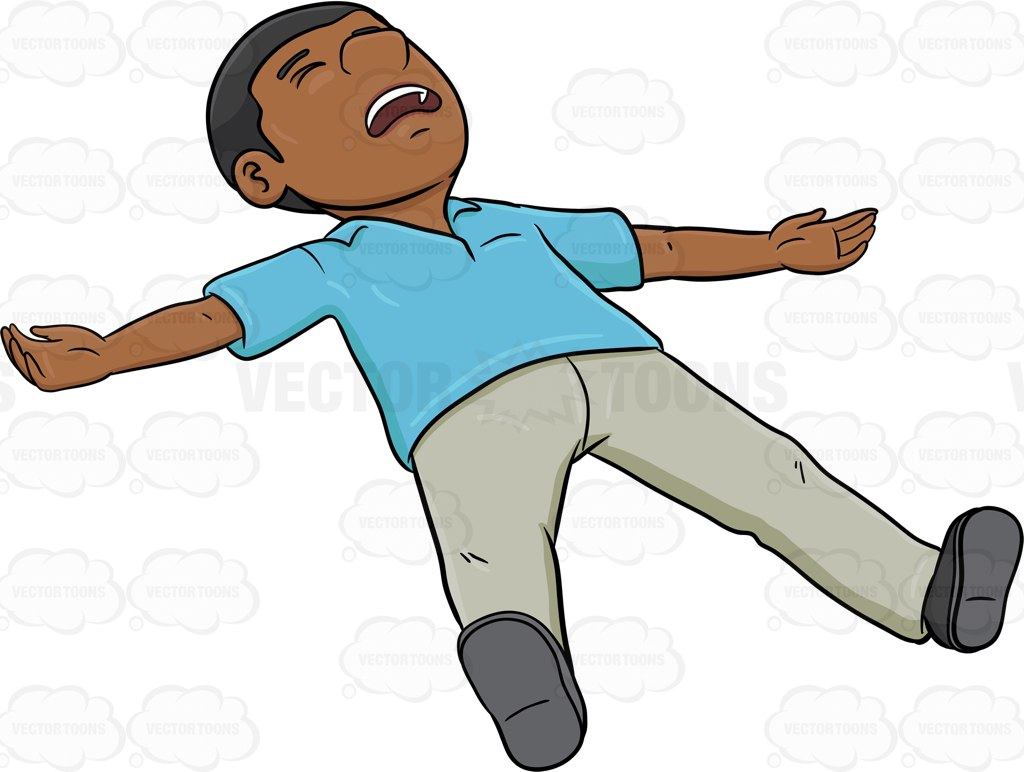 Boy Lying Down Clipart.