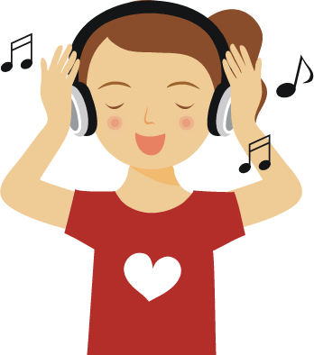 Listening To Music Clipart Png.