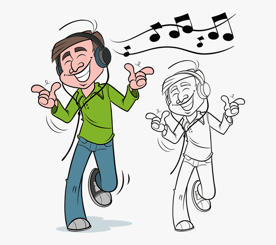 Clip Art Person Listening To Music Clipart.