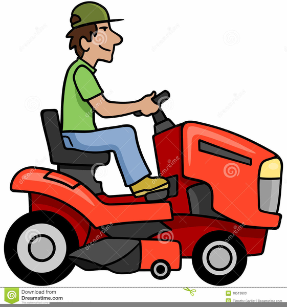 Clipart Lawn Man Mower.