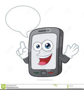 Person On Cell Phone Clipart.
