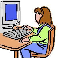 Person Using Computer Clipart.