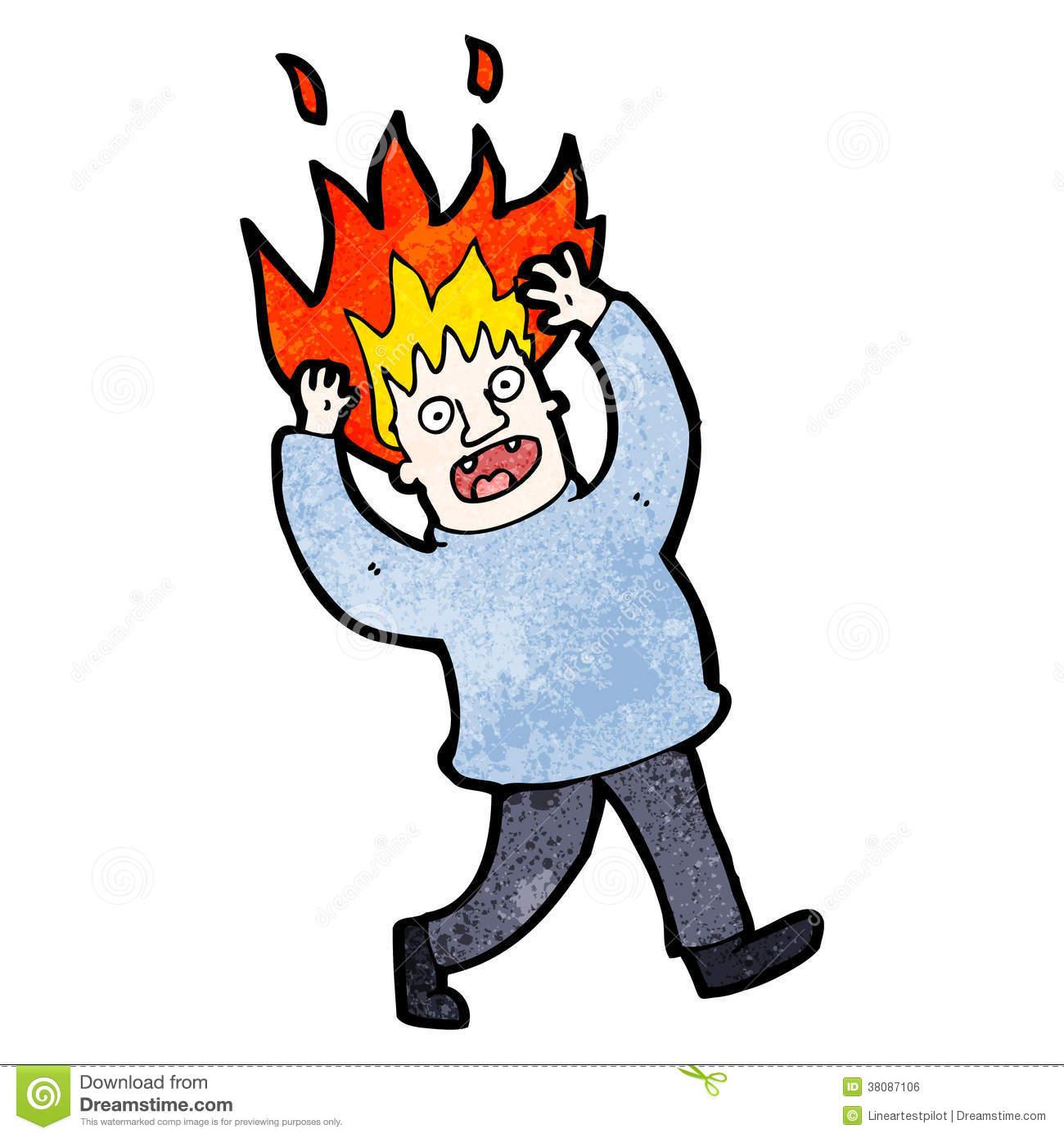 Hair On Fire Clipart.