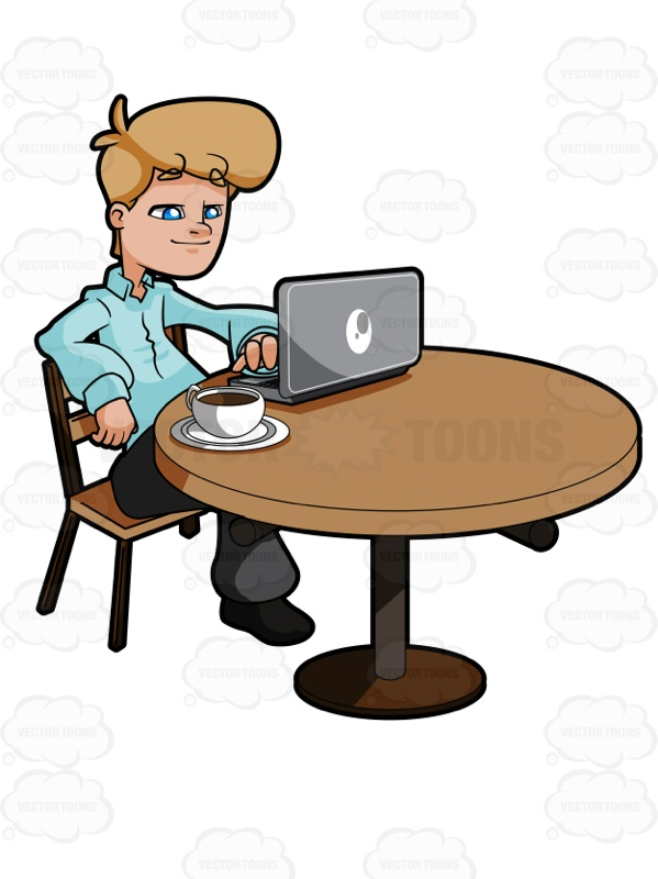 Person Using Laptop Clipart.