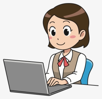 Free Girl Homework Clip Art with No Background.