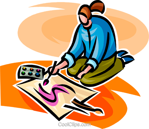 person painting Royalty Free Vector Clip Art illustration.