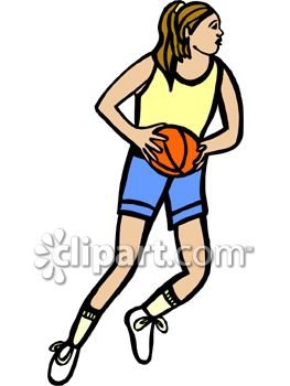 Girl Shooting Basketball Clipart#1904648.