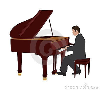 Person Playing Piano Clipart.