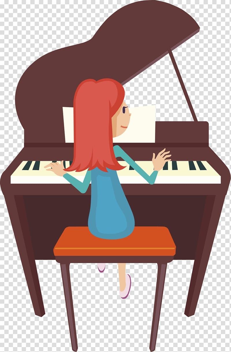 Player piano Pianist , Played transparent background PNG.