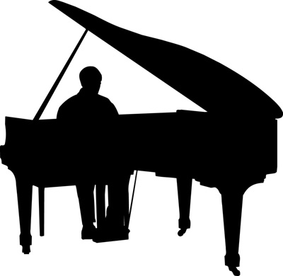 Man Playing Piano Clipart.