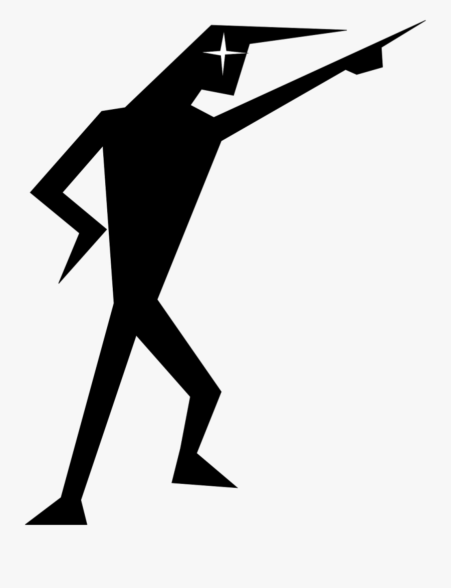 Man Silhouette Pointing Free Picture.
