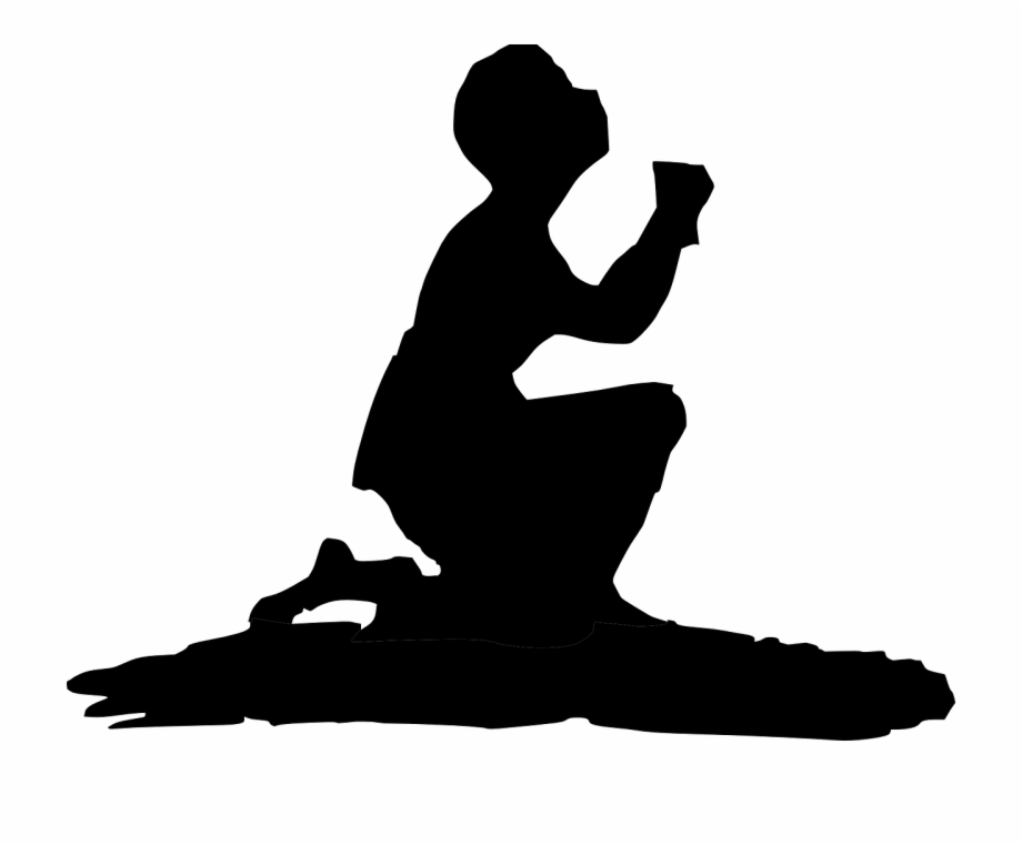 Praying, Prayer, Kneeling, Man, Silhouette, Person.