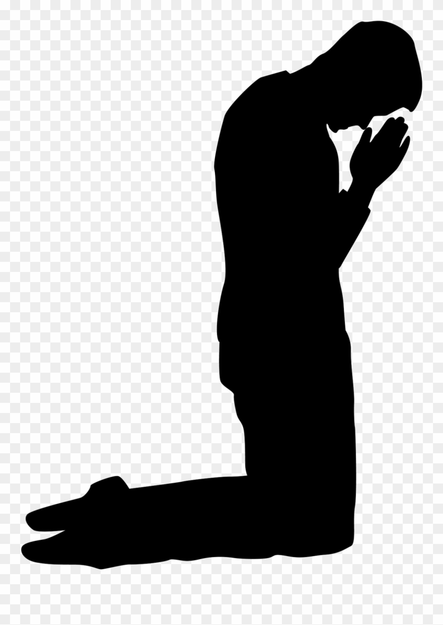 Praying Silhouettes Pinterest Prayers Pray And Kneeling.