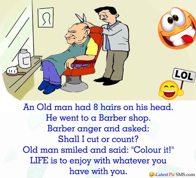 OLD MAN AND THE BARBER.