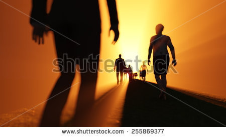 People Walking Away Silhouette Stock Images, Royalty.