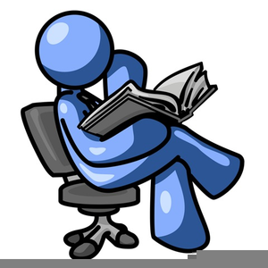 Person Reading A Book Clipart.