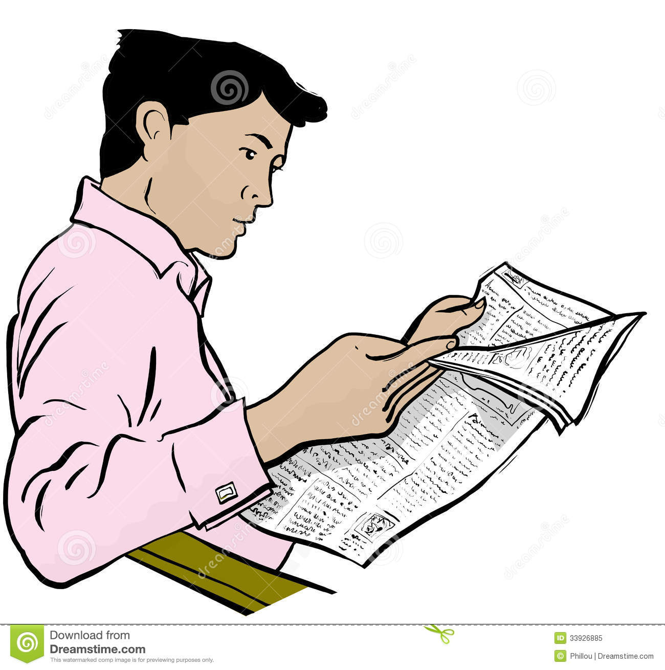 Man reading newspaper clipart 5 » Clipart Station.