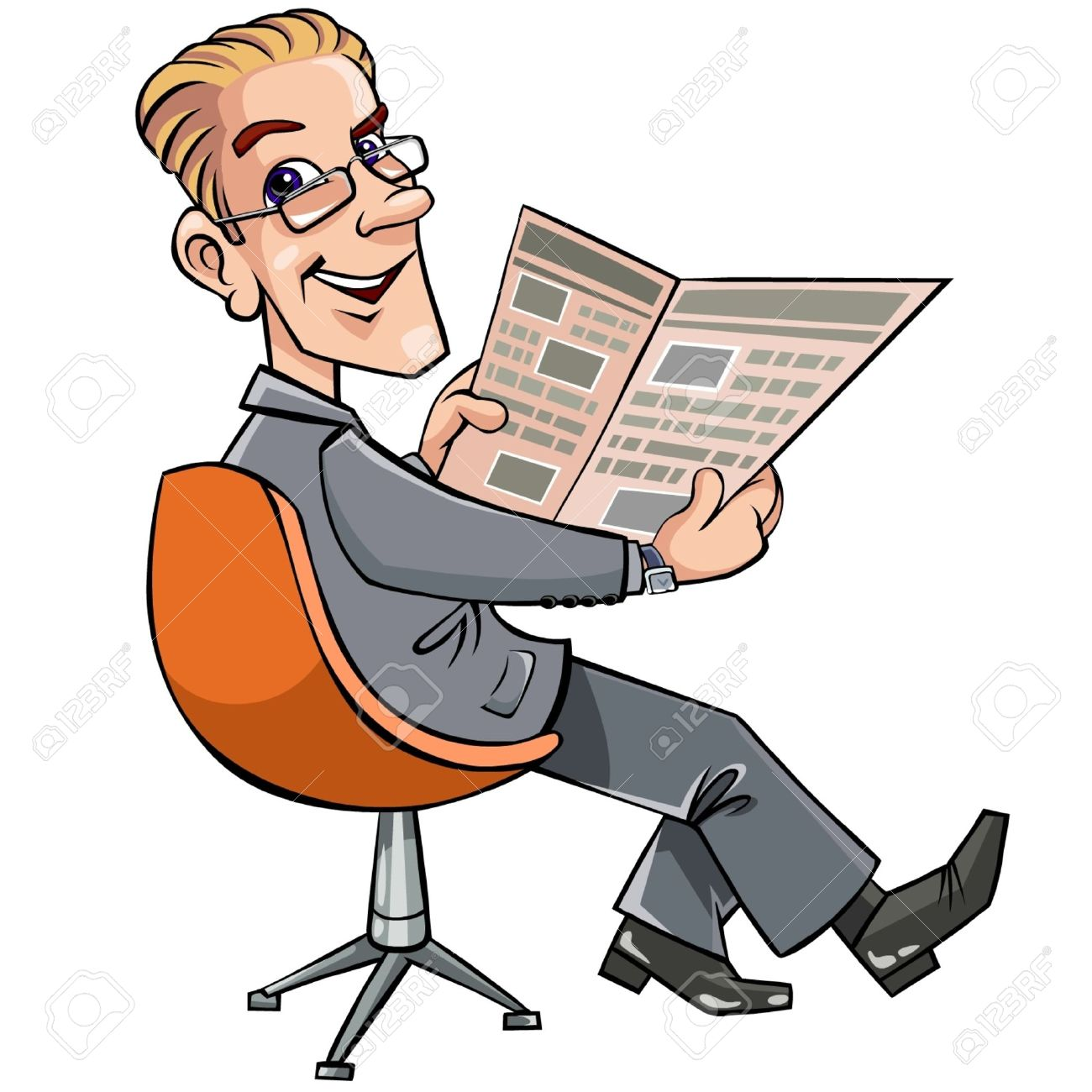 Reading Newspaper Clipart Png.