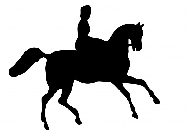 Horse Rider Silhouette Clipart Free Stock Photo.