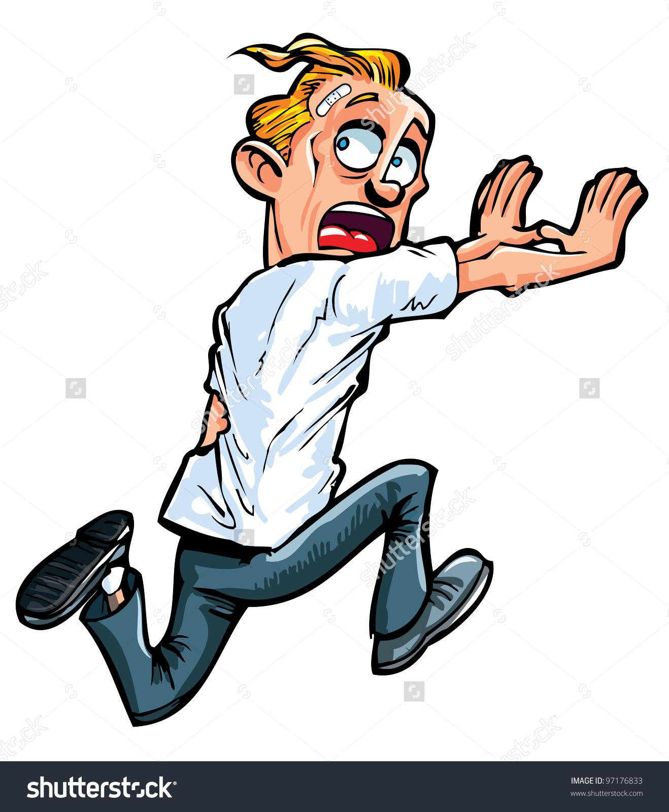 Man Running Away Clipart.