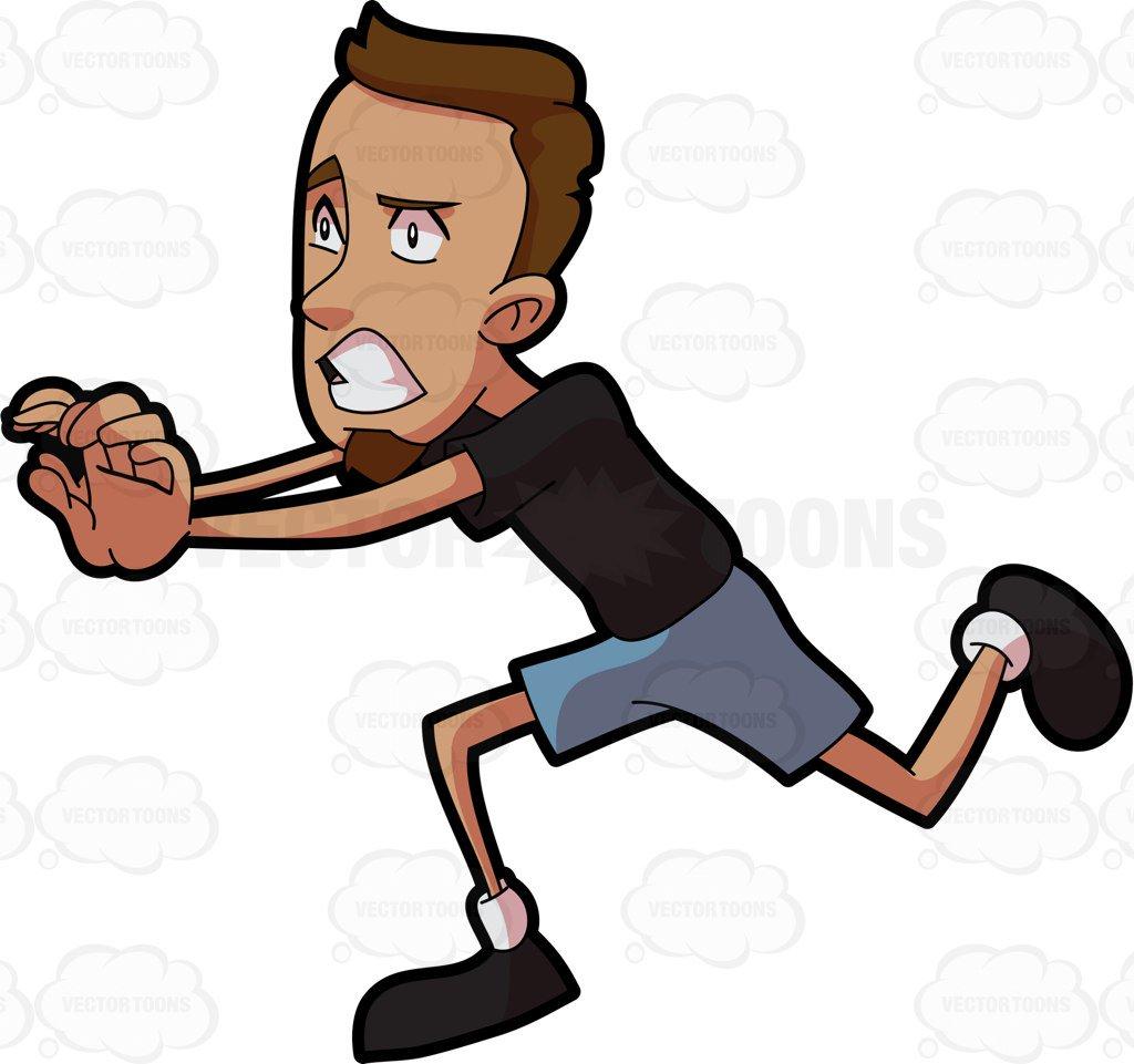 1032 Man Running free clipart.