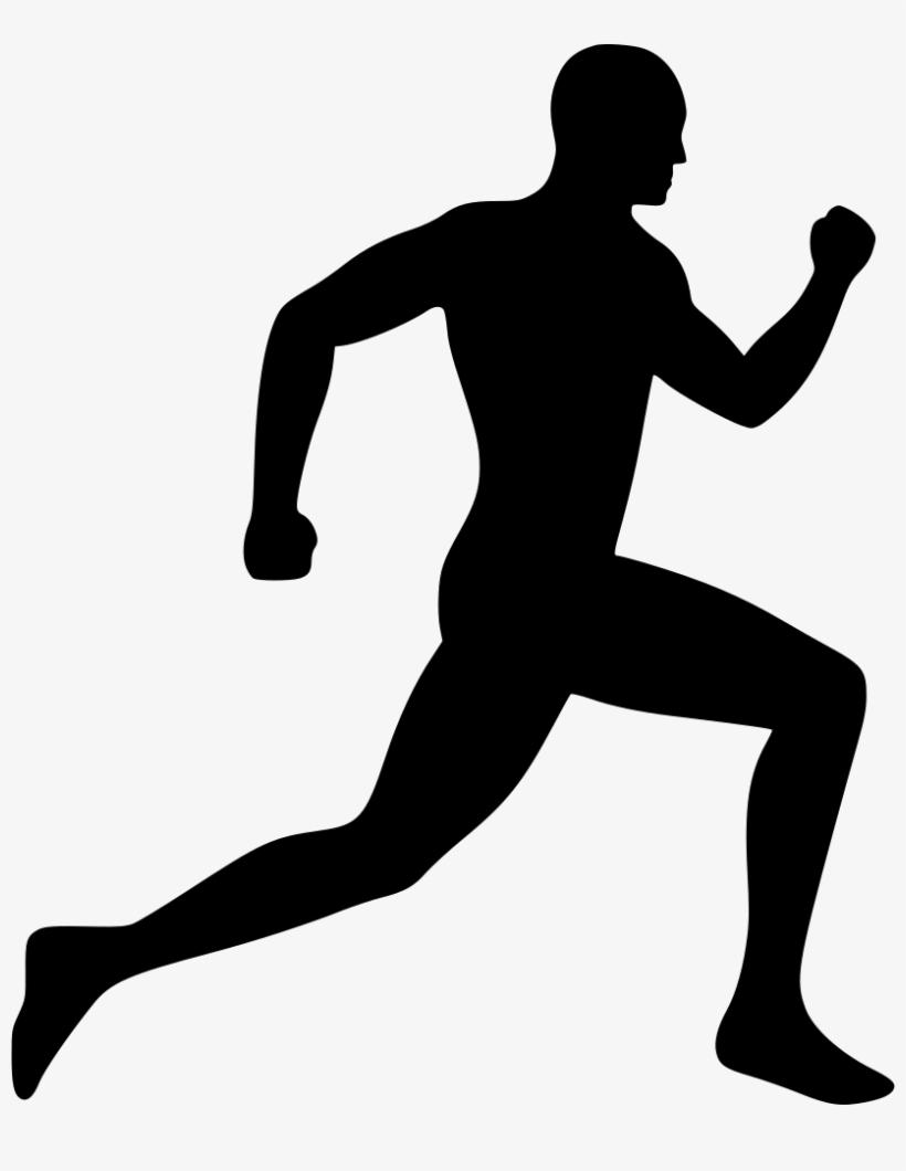 Running Man Silhouette Clip Art Free At Getdrawings.