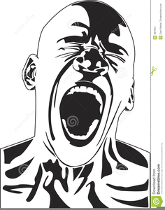 Person Screaming Clipart.