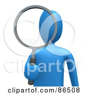 Clip Art of a Person Searching.