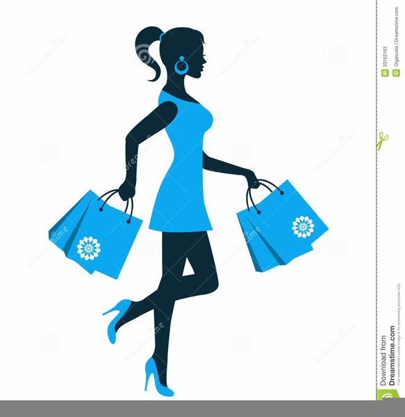 Clipart Of Person Shopping.