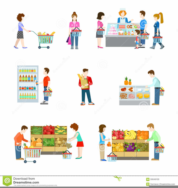 Person Shopping Clipart.