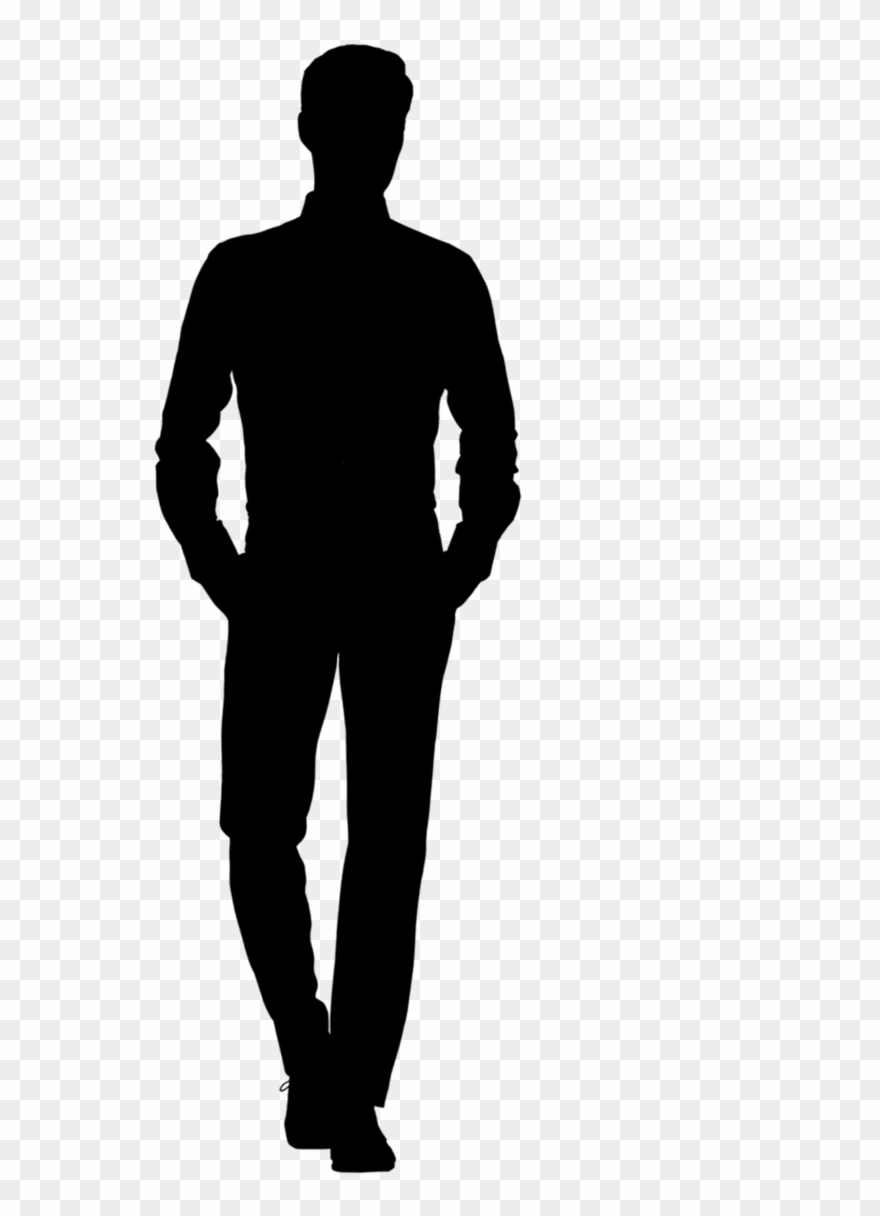 Man Silhouette Png Clipart (#1167949).